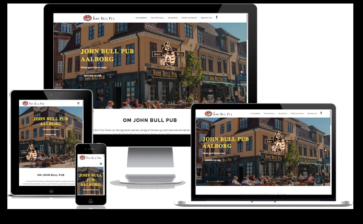 John Bull Pub Aalborg - responsive hjemmeside